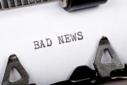 Bad publicity: bad news
