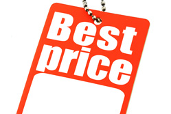 Price comparison sites - best price label