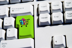E-commerce: shopping trolley key