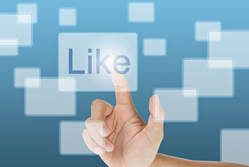 A social media Like button