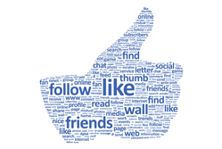 Thumbs up social media wordle