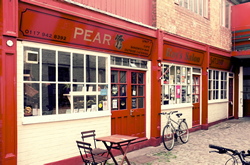 Outside of the Pear Cafe