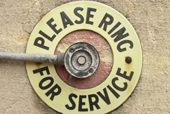 Please ring for service sign{{}}