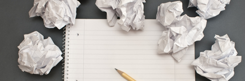 Writing rules you should break - screwed up paper