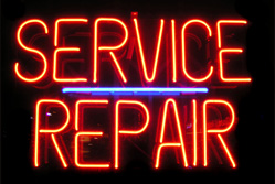 Service and repair neon sign{{}}