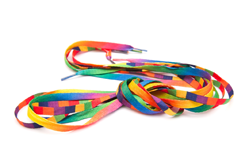 Design marketing materials - Coloured shoe laces