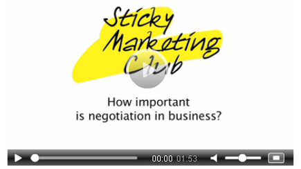 Sticky Marketing Club video