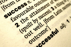 The word success in a dictionary