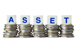 Assets - pile of coins