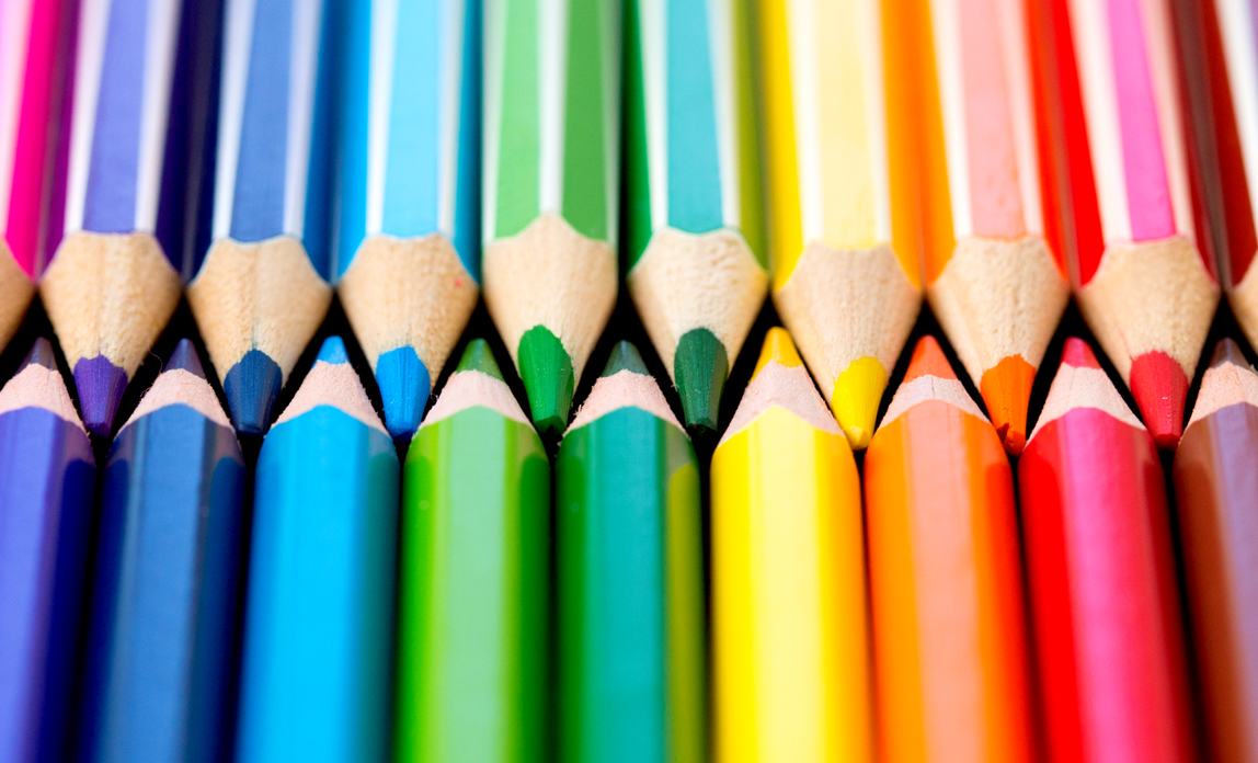 Coloured pencils - Quality marketing materials on a budget