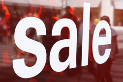 Sale sign in window{{}}