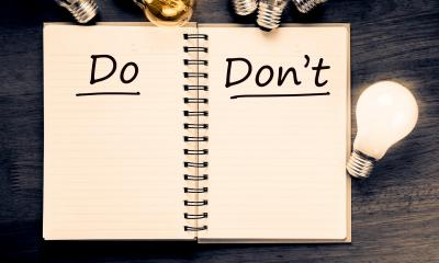 Dos and don'ts when exhibiting