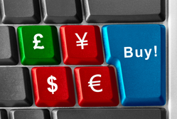 Currency symbols on a keyboard
