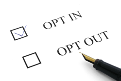 Opt in opt out check boxes for email marketing permission