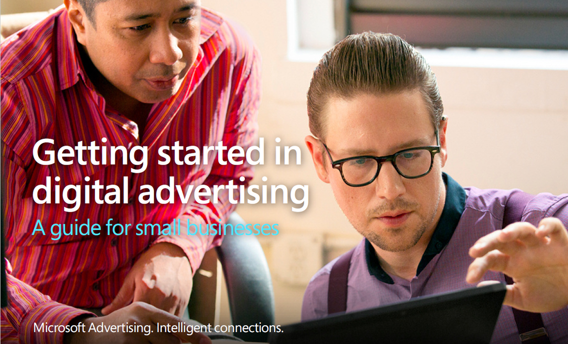 Getting started in digital advertising - guide front cover