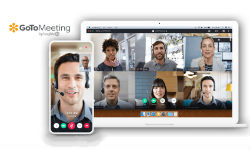 GoToMeeting on a laptop