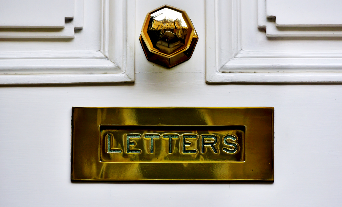 A letterbox{{}}