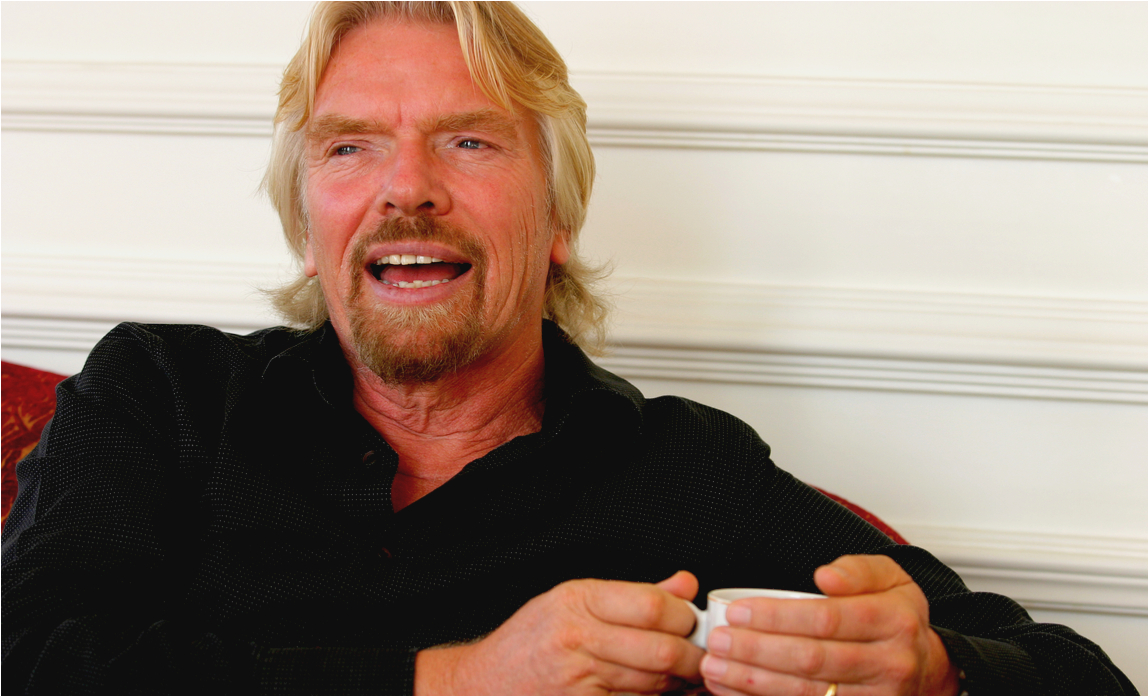Richard Branson handling customer complaints