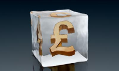 A pound sign in ice{{}}