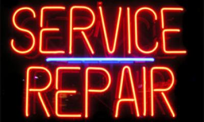 Service and repair neon sign