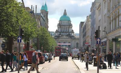 Donegall Square with view to Belfast City Hall