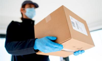 "A small firm delivers goods to a customer in a ""COVID secure"" way"