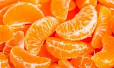 Lots of segments of orange