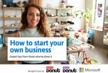 Female sales assistant standing in clothes shop - cover of the How to start your own business ebook