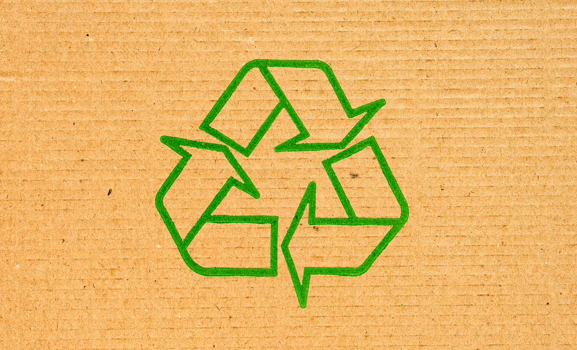 Green exhibitions - recycling symbol{{}}