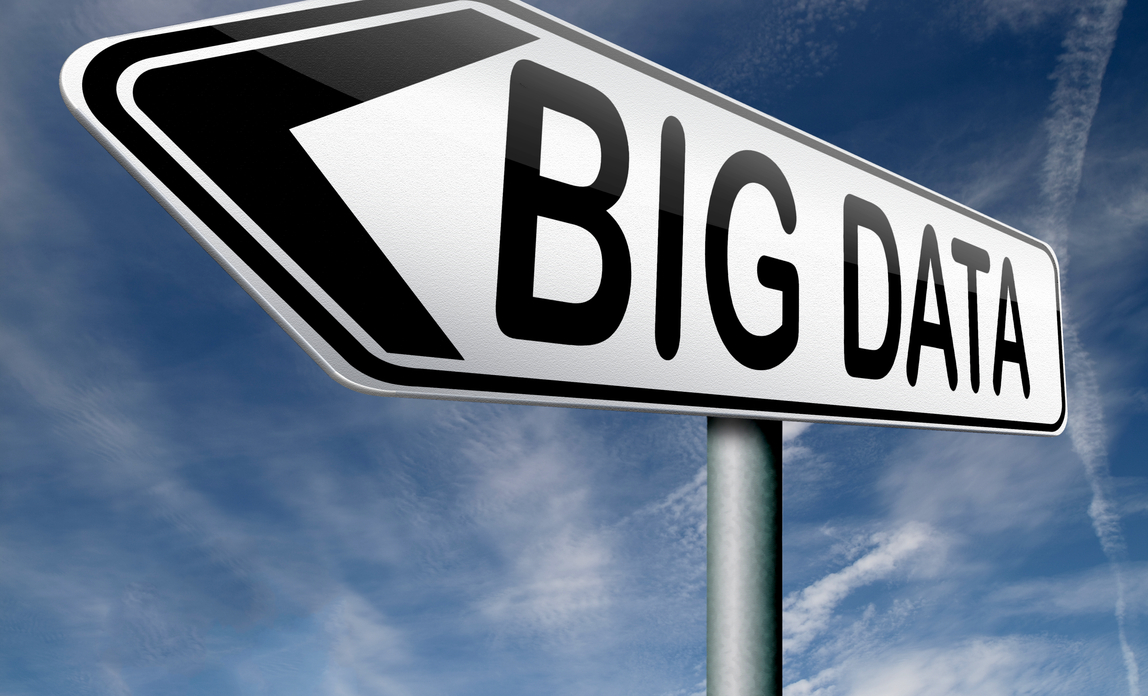 'BIG DATA' road sign directing you left